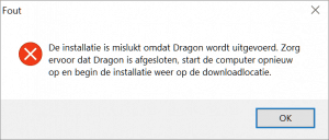 update-dragon-uitvoeren-fout