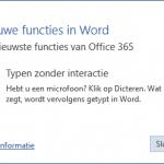 Dicteren met Microsoft Office 365